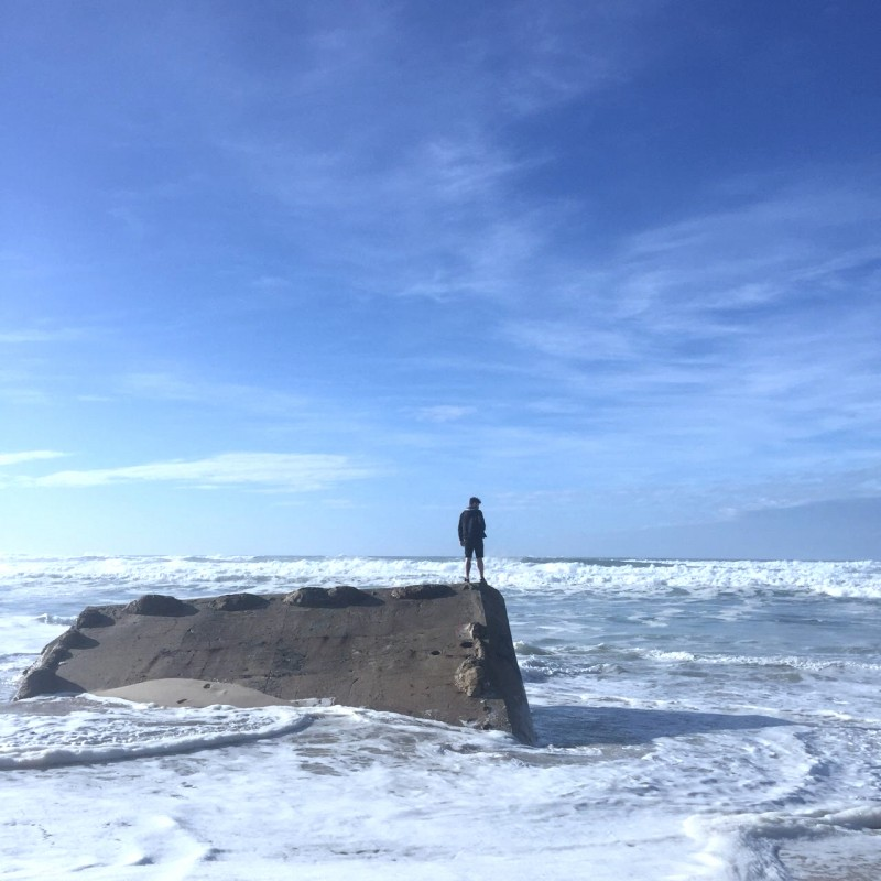 <p>Me standing on a sinking bunker. Staring at the sea. Pondering life.</p>
